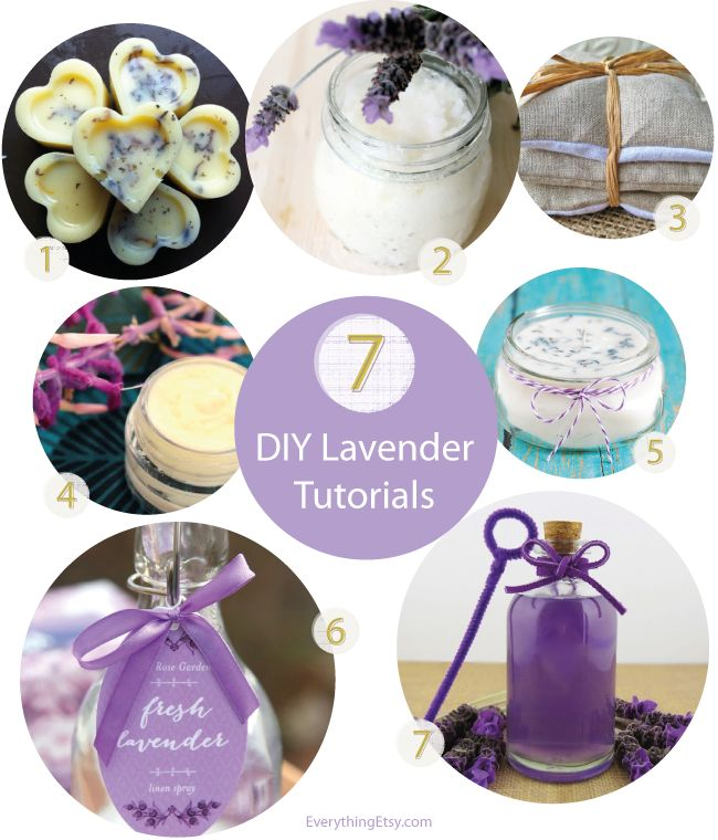 7 DIY Lavender Tutorials..simple and sweet for spring projects! #diy #spring