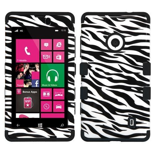 Find #Nokia #Lumia #520 #521 #Protector #Skin #Cover - Hybrid Zebra Skin/Black Total Defense Shipped Free at @Acetag. Come soon to get protection for your phone! Just $12.99