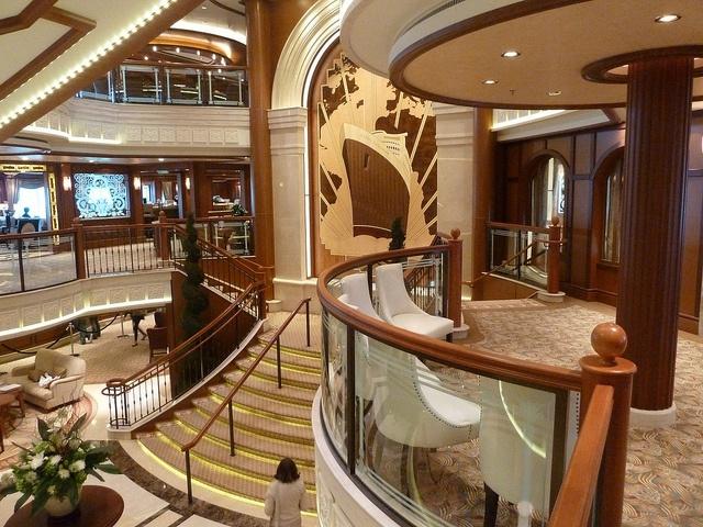 Cunard Queen Elizabeth Grand Lobby by garybembridge, via Flickr