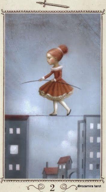 Two of Swords - Nicoletta Ceccoli Tarot by Nicoletta Ceccoli