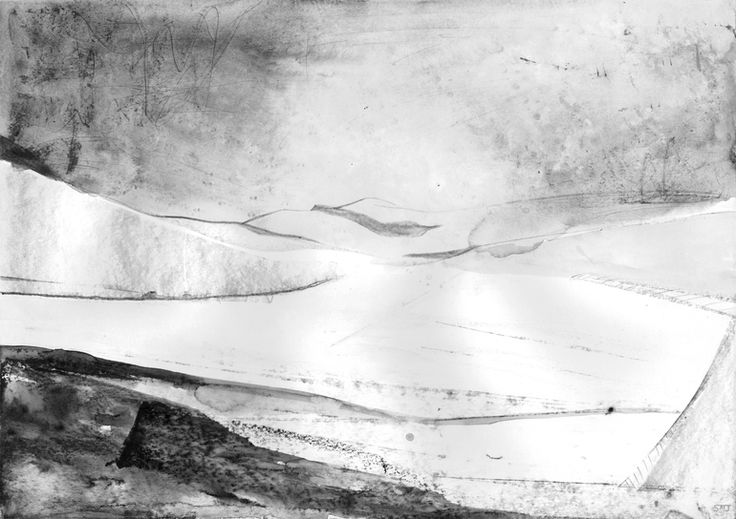 """Saatchi Online Artist: Shaun Michael Jones; Graphite 2013 Drawing """"Rain Over The Peak District II"""""""