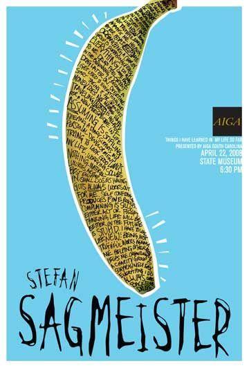 Stefan Sagmeister, AIGA  event #poster