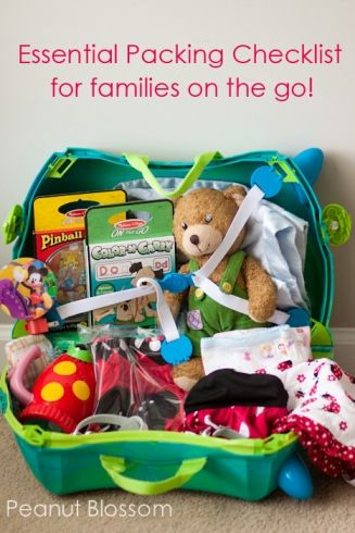 Essential packing list for families on the go! How to pack for emergencies and ease and keep the kids supplied and happy!