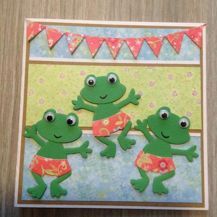 71 best Frog Cards images on Pinterest | Kids cards, Card crafts ...