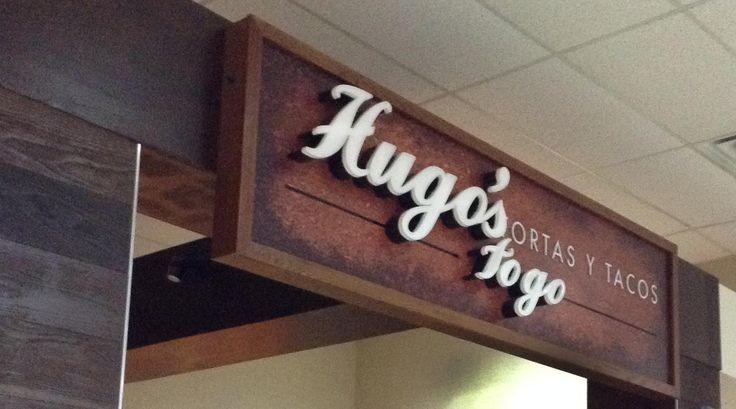 Hugo's Tortas & Tacos in Houston George Bush Airport  #signs #signcompany #restaurant #restaurantsigns #airport #airportrestaurant