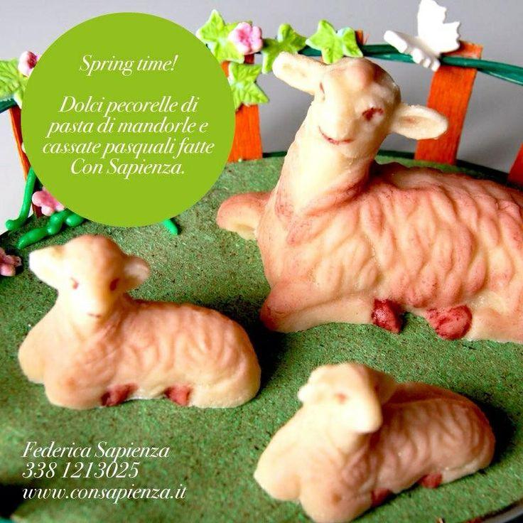 Dolci pecorelle in pasta reale