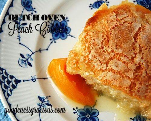 Dutch Oven Peach Cobbler