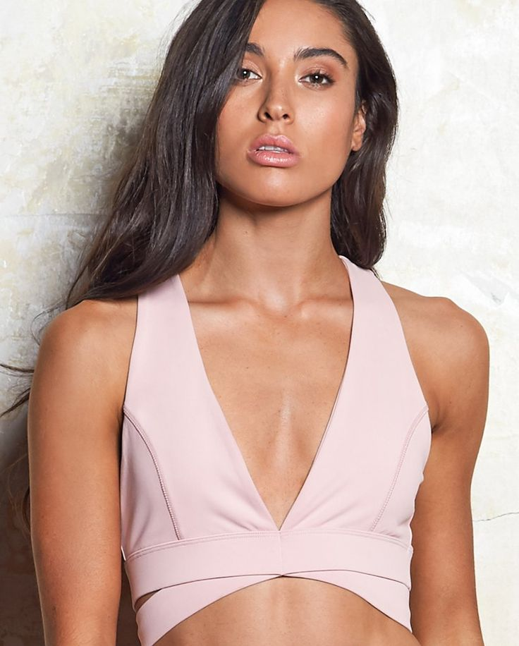 Simone Wrap Sports Crop - Dusty Rose