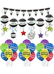 Happy Retirement Celebration Decorating Kit with Balloons