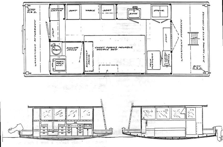 Houseboat vs shanty boat vs floating home one more good for Boat house designs plans