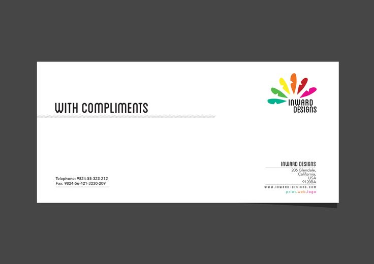 Inward Design - Compliment Slip Design Layout #branding #logo - compliment slip template