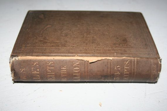 Rare 1857 Mrs. Hale's Receipts for the Million by Sarah Josepha Hale Hardcover Book Godey's Lady's Book Editor