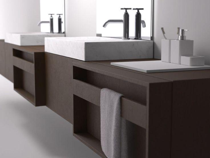 Las 25 mejores ideas sobre lavabo doble en pinterest for Mueble lavabo madera