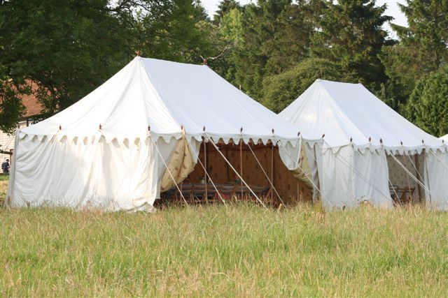White Canvas Marquees for events, these Tents have been put up to witness a Cricket match.