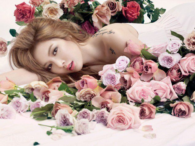 HyunA talks about her new album, dieting year-round, and more in 'Allure'…