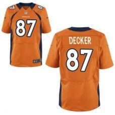 nike elite mens denver broncos 87 eric decker team color orange nfl jersey