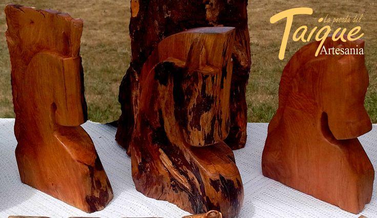 Cabezas de Caballo Madera Nativa de Mañio