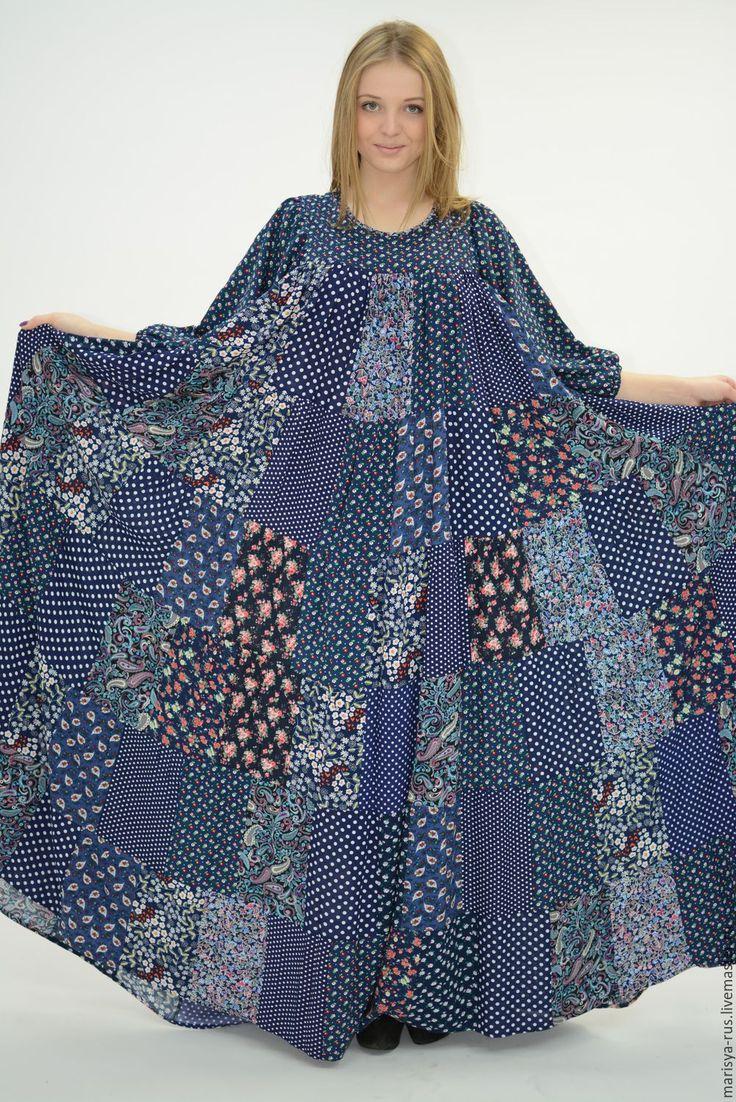 Женское платье лоскутная техника