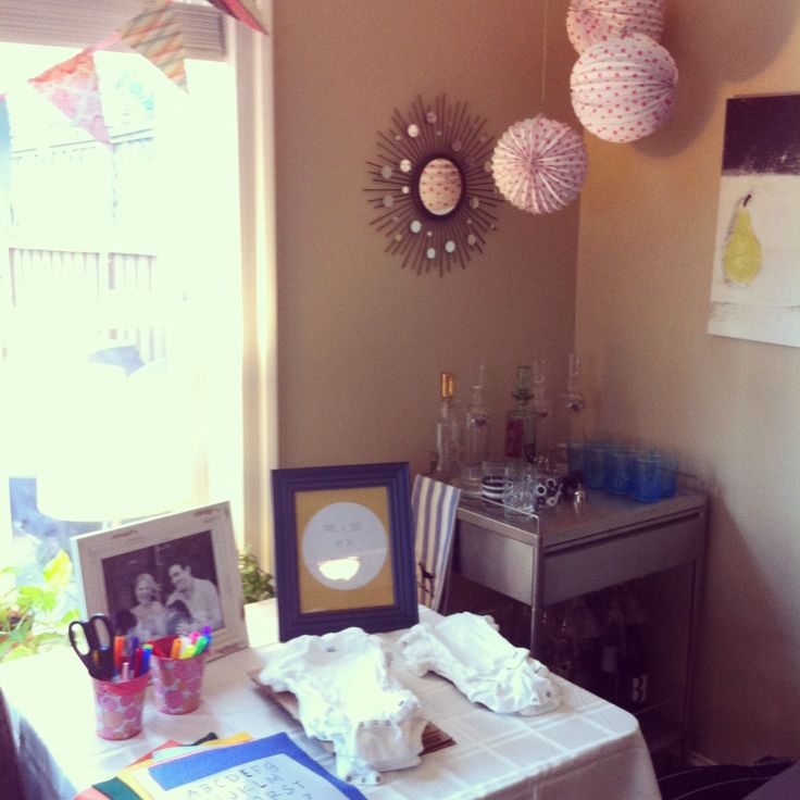 Baby Shower Baby Girl Onesie Decoration Station