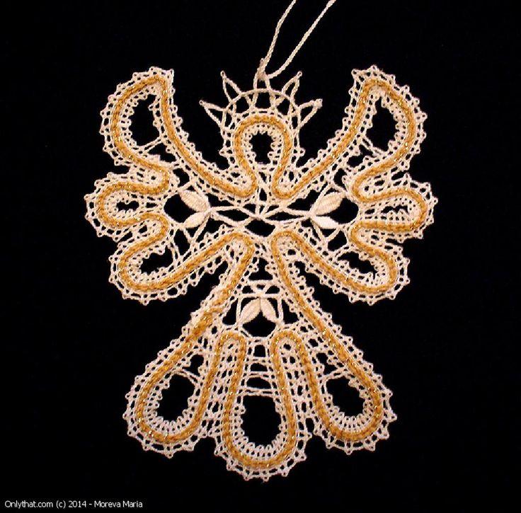 Angel - lace souvenir, Vologda bobbin lace