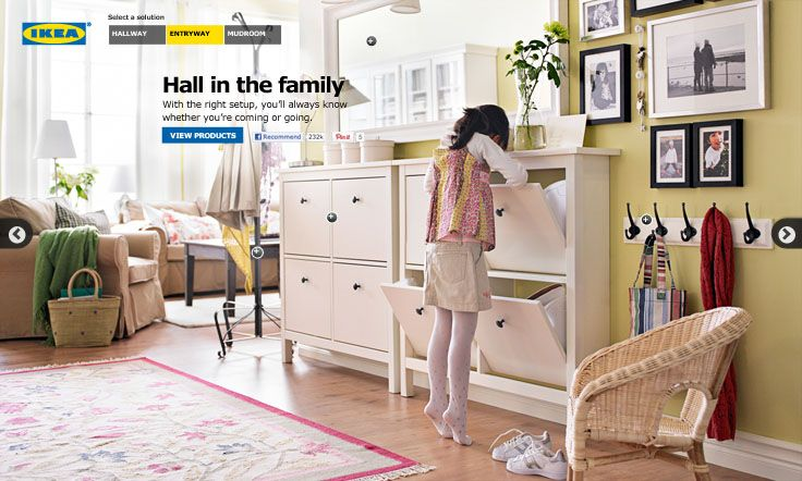 Hall in the family - with the right setup, you'll always know whether you're coming or going! #IKEA #PinToWin