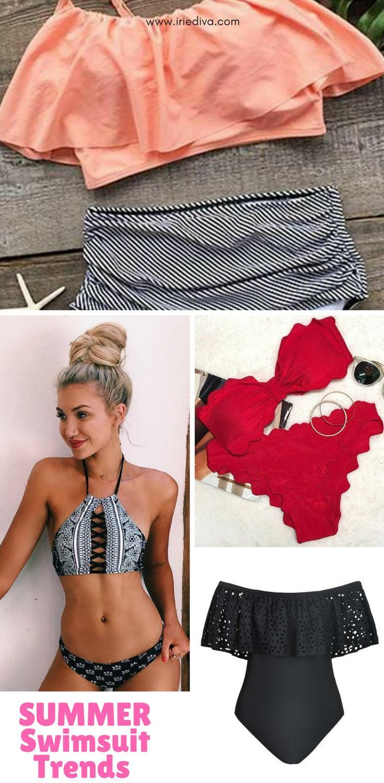 e18941a4352a7 Swimwear trends 2018, swim suits, one piece, bikini, monokini, modest  swimwear, high waisted swimwear, swimwear for big bust