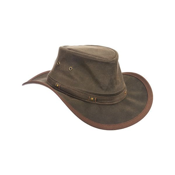 Men's Stetson STC267 Outback Hat ($60) ❤ liked on Polyvore featuring men's fashion, men's accessories, men's hats, brown, stetson mens hats, mens hats, mens wide brim hats, mens cowboy hats and mens western hats