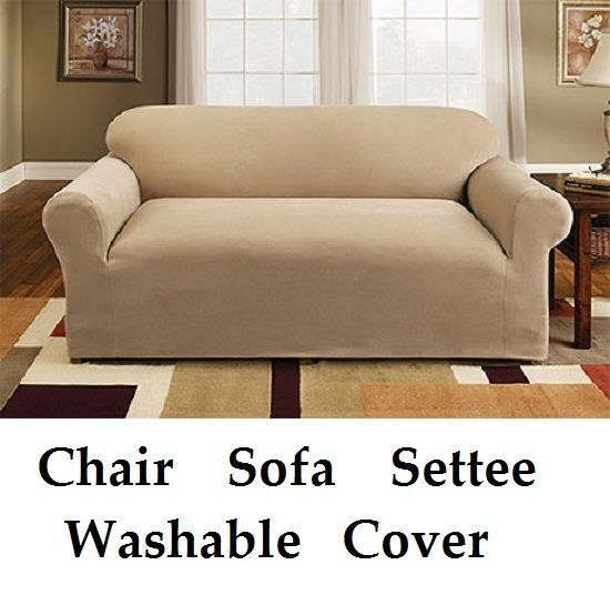 3 Seater Cream Easy Fit Stretch Elastic Fabric Chair Sofa Settee Slip Cover in Home, Furniture & DIY, Children's Home & Furniture, Curtains | eBay