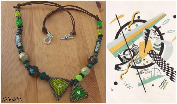 Size / Weight/Material a total of approx. 68 cm  weight 49 g.  Used materials Fastener from metal, glass beads, leather tape, wood, metal,-and ceramic beads  Production kind Hand-made
