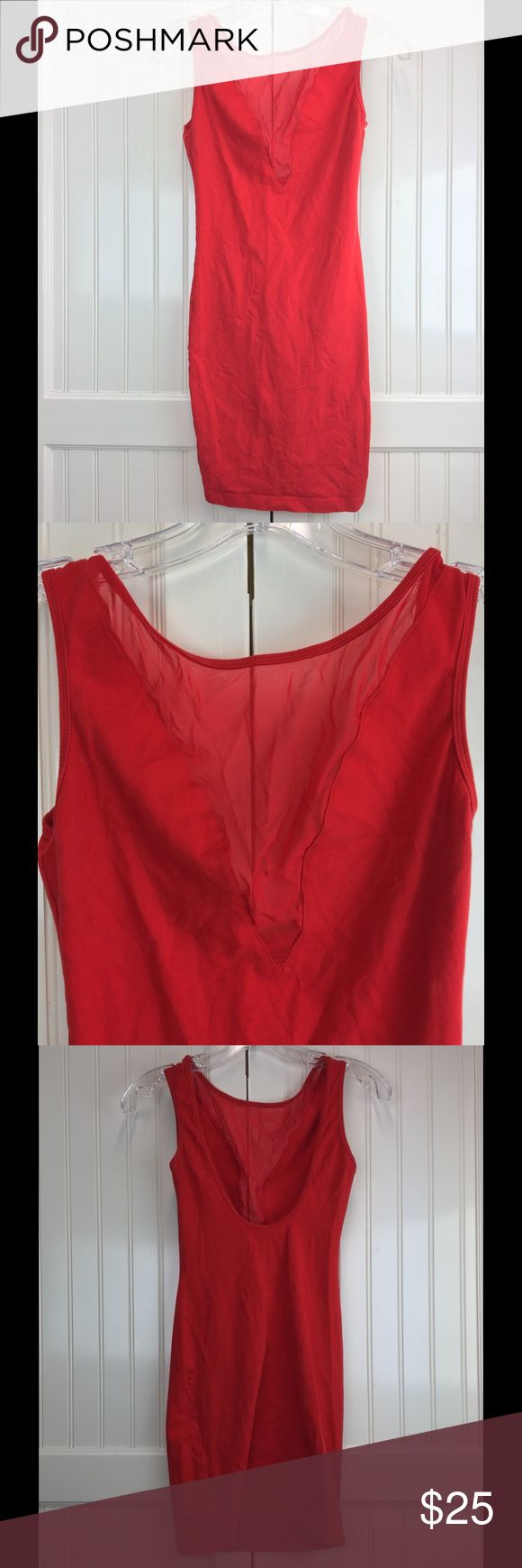 Red American Apparel Dress Dress is in great condition. Worn once. American Apparel Dresses Mini