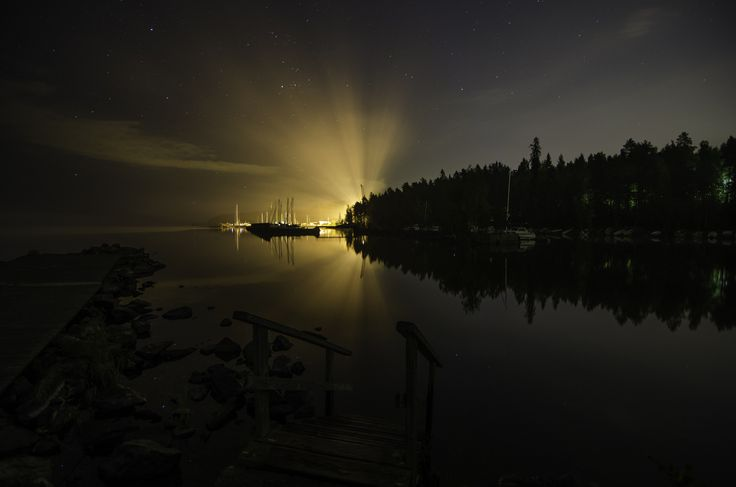 Lake Näsijärvi at night time in Tampere, Finland. Picture by Atacan Ergin. www.tampereallbright.fi