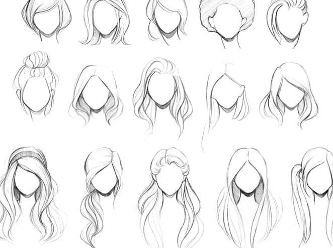 Female Hairstyle Sketches New Hairstyles Female Hairstyle Sketches Anime Girlhairstyles Hair Pixers To Dra How To Draw Hair Hair Sketch Pictures To Draw