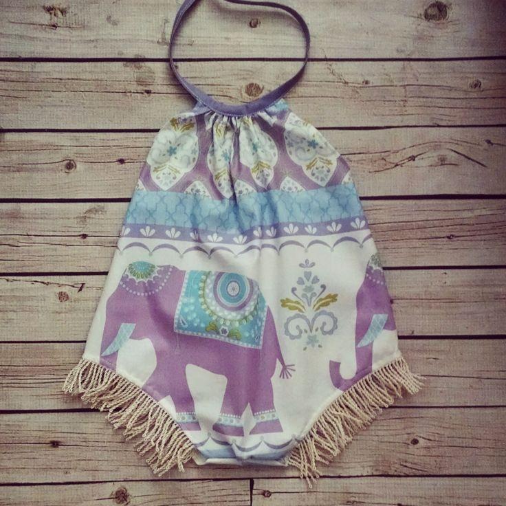 Baby Romper-  Boho Romper - Elephant - Playsuit - Boho -baby romper by vintagestitches on Etsy https://www.etsy.com/listing/268098222/baby-romper-boho-romper-elephant