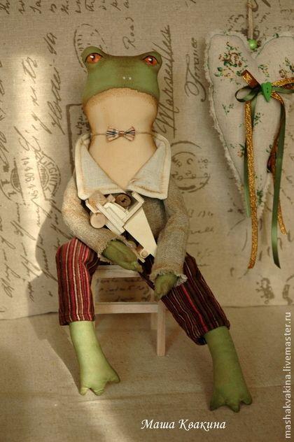 Интерьерная лягушка Моня - коллекционные игрушки,ароматизированная игрушка