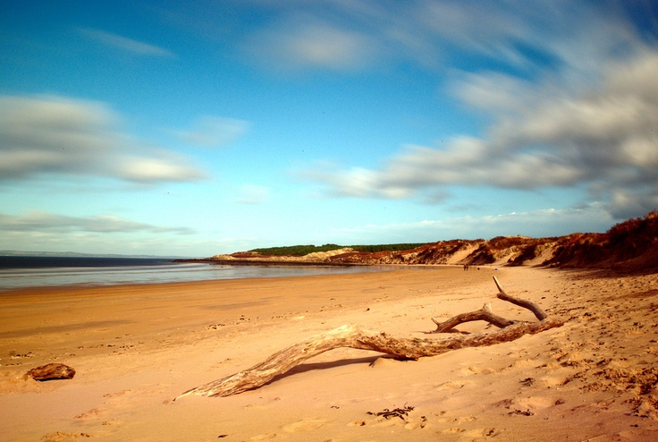 Beautiful Gullane beach - only 10 miles along the East Lothian coast