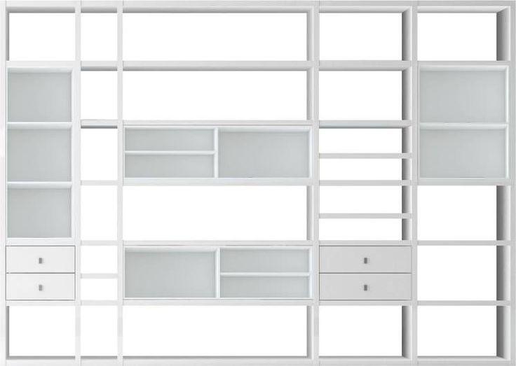 XXL open kast Emporior III - wit - Zonder verlichting - Wit, Fredriks online kopen