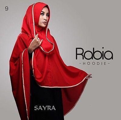 Rabia Hoodie Hijab One Piece Khimar Amira Slip On Muslim Scarf Abaya Islam