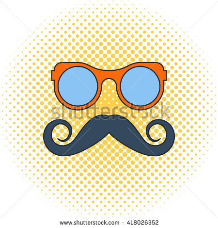 glasses and mustache silhouette | Royalty Free Stock Photos and Images: hipster Mustache and Glasses ...