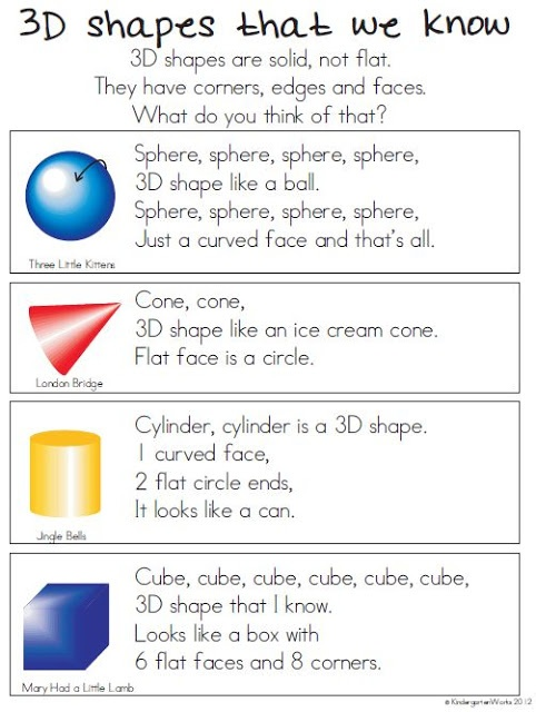 10 Activities For Describing 3d Shapes In Kindergarten Shapes Kindergarten Teaching Shapes 3d Shapes Kindergarten 3d shapes lesson for kindergarten