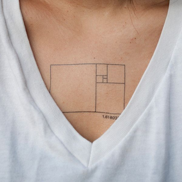 Golden Ratio, $5 for 2 | 30 Temporary Tattoos That Are Just As Cool As The Real Thing