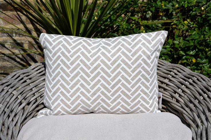 White Chevron Cushion Cover £22.00
