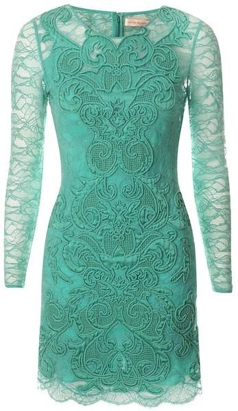 Matthew williamson - England Rainbow Lace Long Sleeve Dress - gorgeous...