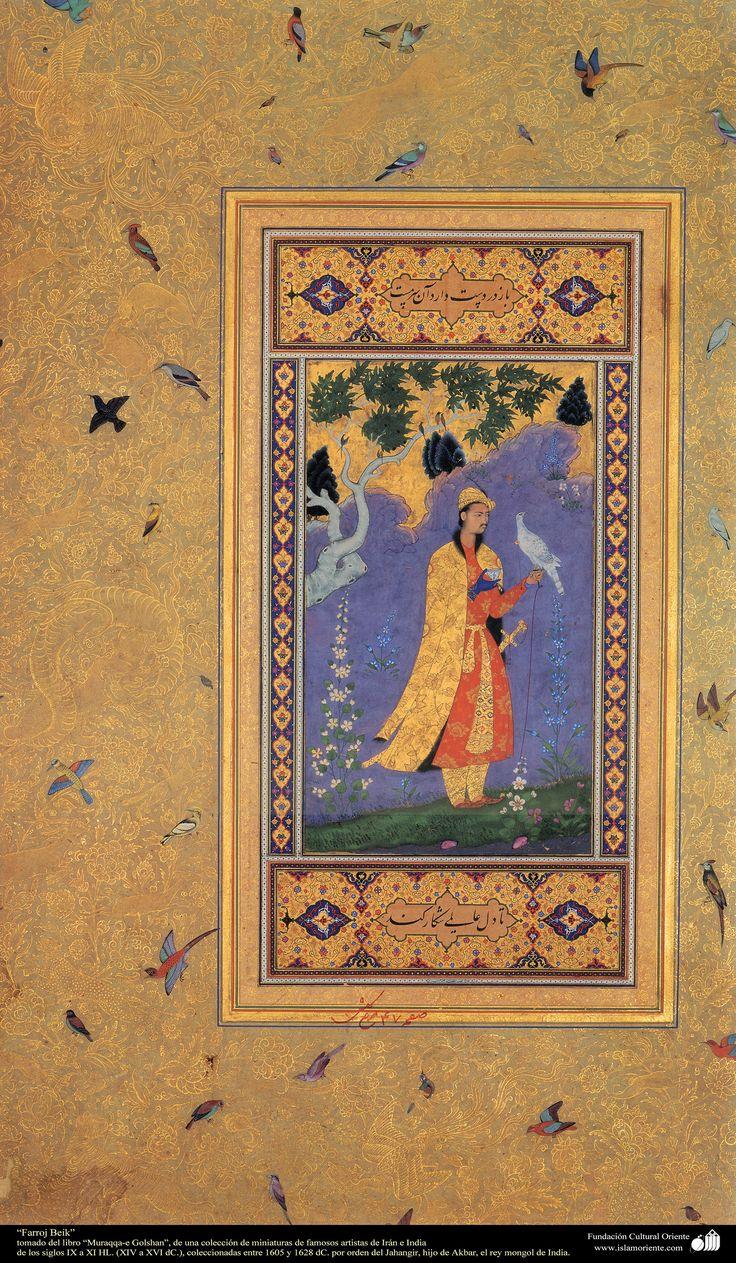 "Miniature - ""Farrokh Beik"" Moraqqaʿ-e Golšan 1605-1628"