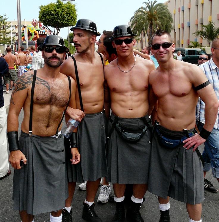 gay scottish kilt Fanø