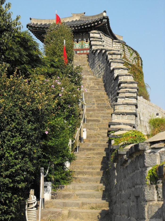 Hwaseong Fortress [UNESCO World Heritage], Suwon, Gyeonggi-do, South Korea.