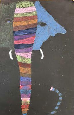 Kim & Karen: 2 Soul Sisters (Art Education Blog): Elephants (Student Medium Choice)