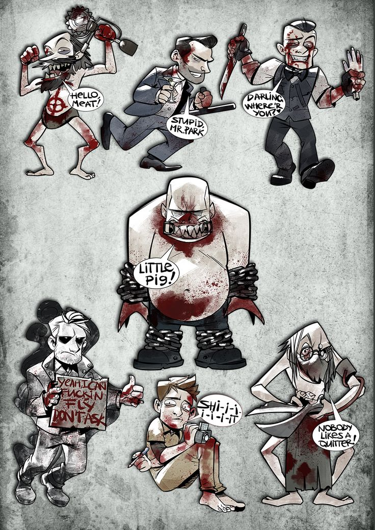 vicious-mongrel: ALL THE PRINTS I MADE (three new - Miles, Eddie and Waylon) http://www.redbubble.com/people/viciousmongrel bwah, now i'm tired but I like the result and now for the next horror game!