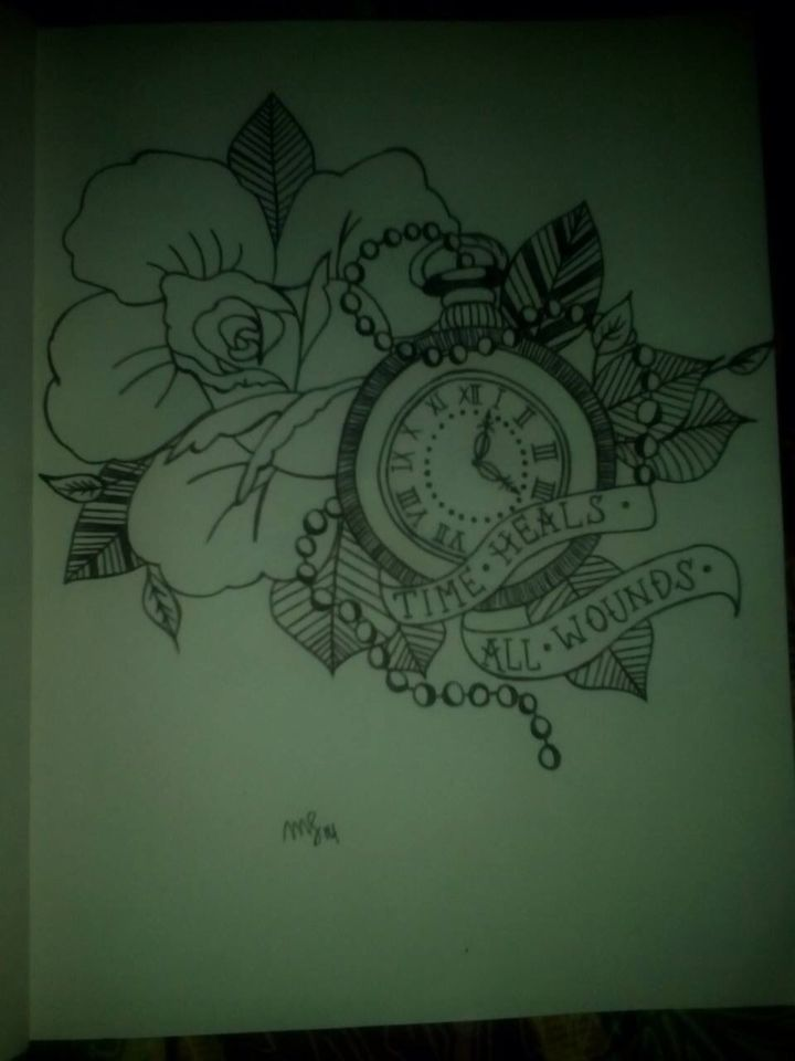 """""""time Heals All Wounds.""""  I love this. This is would be a great idea for a tattoo!!"""
