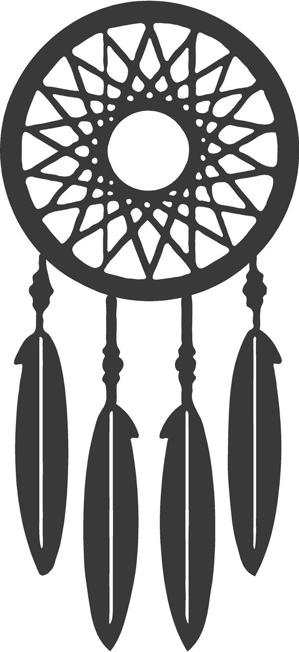 Simple Spray Paint Stencils Part - 46: NEST Dream Catcher Wall Decal
