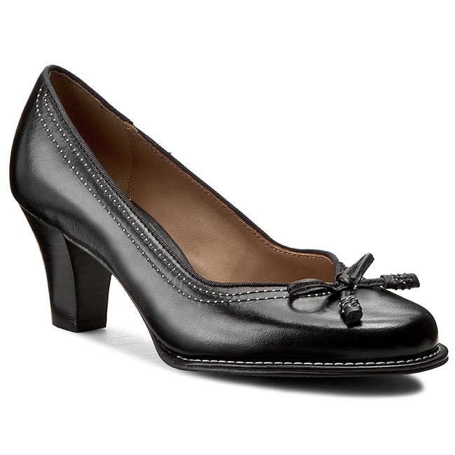 Półbuty CLARKS - Bombay Lights 203067434 Black Leather